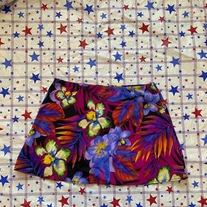 Stretchy Floral Swim Skirt OS one size